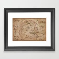 Map of the Shire Framed Art Print