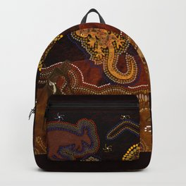 Desert Heat - Australian Aboriginal Art Theme Backpack