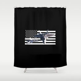 F-22 (Black Flag) Shower Curtain