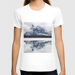 Mount Rundle reflection in Vermillion Lakes, Alberta T-shirt