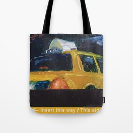 Subway Card NYC Taxi Painting Tote Bag