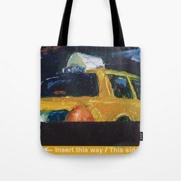 Subway Card NYC Taxi Painting Tote Bag