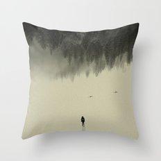 Silent walk Throw Pillow