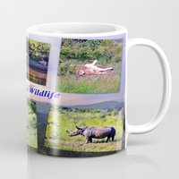 south africa Mugs featuring South Africa Wildlife by Art-Motiva