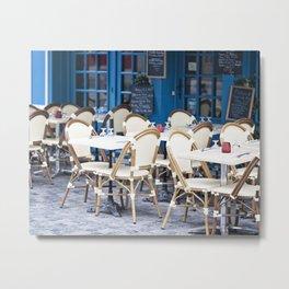 Blue Cafe Metal Print