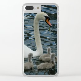 Mute Swan & Cygnets Clear iPhone Case