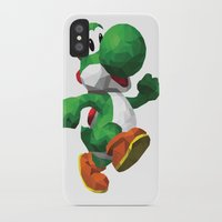 yoshi iPhone & iPod Cases featuring Yoshi Geometric by ThisTinyBean.