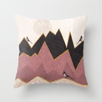 velvet underground Throw Pillows featuring Velvet by Kakel