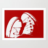 converse Art Prints featuring Converse by Dawn East Sider