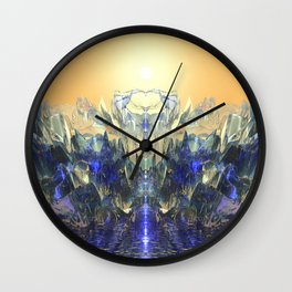 Crystal Ship Wall Clock