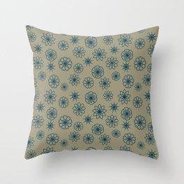Digital flowers Throw Pillow
