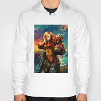 samus Hoodies featuring Samus  by ururuty