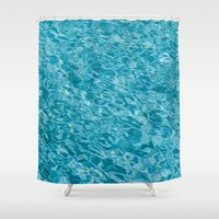 swim Shower Curtains featuring // Swim // by Andreas Poupoutsis Photography
