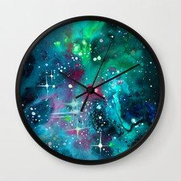 Emerald Nebula Wall Clock