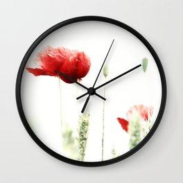 Poppy Poppies Mohn Mohnblume Wall Clock