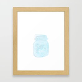 country jar Framed Art Print