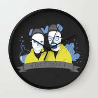 cook Wall Clocks featuring Let's cook by Paula García
