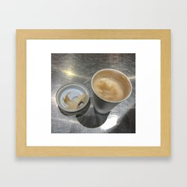 Have a cup of coffee? Framed Art Print