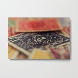 Macro Stamps Metal Print
