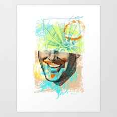 Smiley Eye Art Print