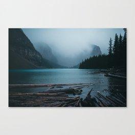 Foggy Moraine Canvas Print
