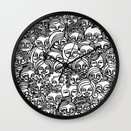 All The Girls in Black Wall Clock