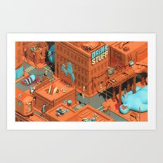 Murdertown - Soda Row Art Print