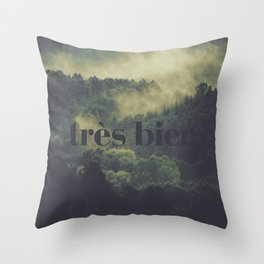 "Très Bien ""Forest"" Throw Pillow"