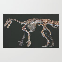 Iguanodon Bernissatnis Skeleton Study (No Labels) Rug