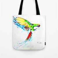 military Tote Bags featuring Military Macaw by ARealpe