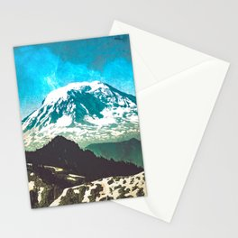 Mt Adams from Mt Rainier Washington State - Nature Photography Stationery Cards