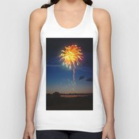 minnesota Tank Tops featuring Minnesota Fireworks by Justine Joy