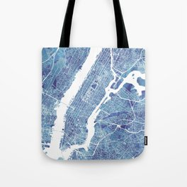 New York City Map United states watercolor Tote Bag