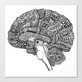The brain Canvas Print