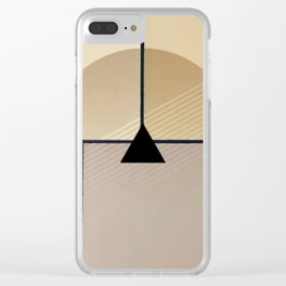 Toned Down - Small Triangle Clear iPhone Case