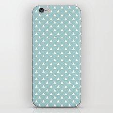 tiffany blue triangle pattern iPhone Skin