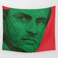 portugal Wall Tapestries featuring Jose Mourinho / Portugal – Poly by Riccardo Anelli