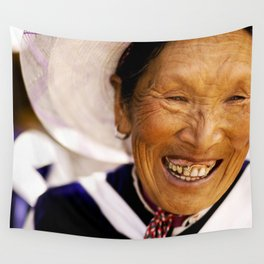 Happy Grandma_Smiling Face Wall Tapestry