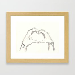 Love, Harry and Louis Framed Art Print