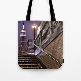 Empire State Subway - New York Photography Tote Bag