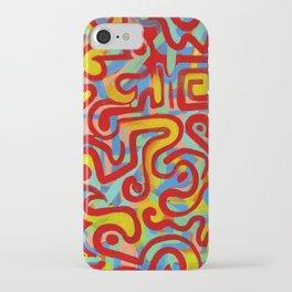 rojo caliente con aguacate iPhone Case