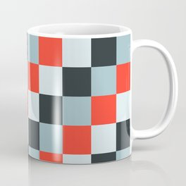 Stainless steel knife - Pixel patten in light gray , light blue and red Coffee Mug