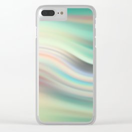 Green mist. Blurred background Clear iPhone Case