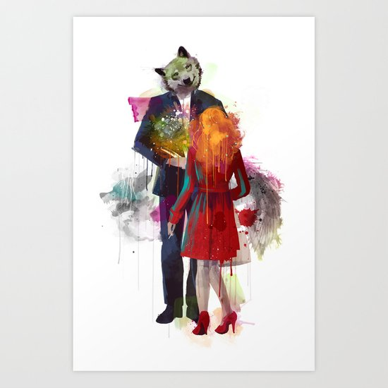 Red Riding, I Am Not Your Wolf Art Print