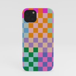 Checkerboard Collage iPhone Case