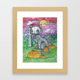 SKELEKITTY Framed Art Print