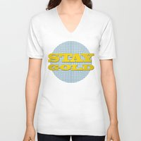 stay gold V-neck T-shirts featuring Stay Gold by abominable