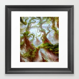 Wooded Foothills Framed Art Print