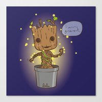 groot Canvas Prints featuring Groot by Lalu - Laura Vargas