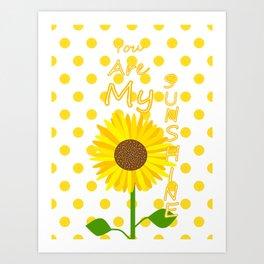 Inspired Sunshine Quote Art Print